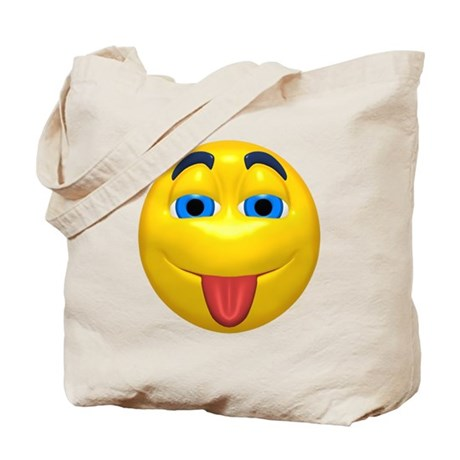Cute Tongue Out Face Tote Bag