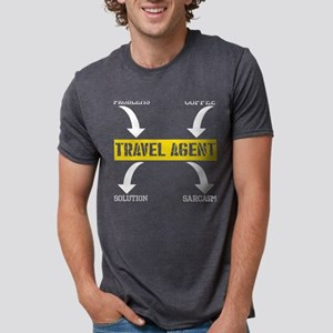 Problems Solution Coffee Sarcasm Travel Ag T-Shirt