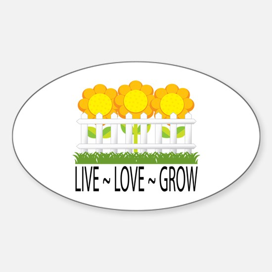 Live Love Grow Oval Decal