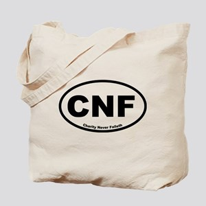 Charity Never Faileth Tote Bag