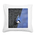 Nuthatch Square Canvas Pillow