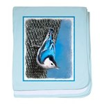 Nuthatch baby blanket