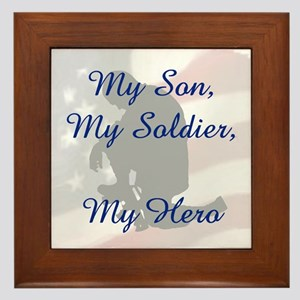 My Son, My Hero Framed Tile