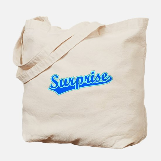 Retro Surprise (Blue) Tote Bag