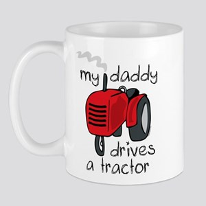 Daddy Drives A Tractor Mug