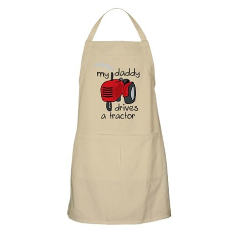 Daddy Drives A Tractor BBQ Apron
