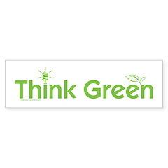Think Green Bumper Bumper Sticker