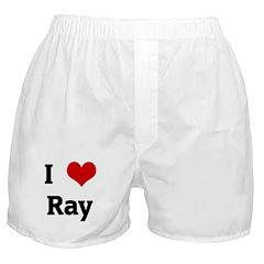 I Love Ray Boxer Shorts