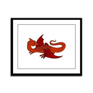 Watcher Dragon Framed Panel Print