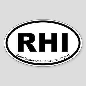 Rhinelander-Oneida County Airport Oval Sticker
