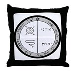 3rd Pentacle of Jupiter Protection Throw Pillow