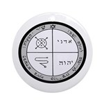 3rd Pentacle of Jupiter Protection Ornament (Round