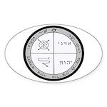 3rd Pentacle of Jupiter Protection Oval Sticker