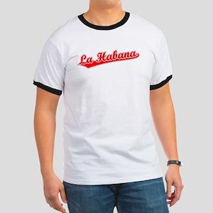 Retro La Habana (Red) Ringer T