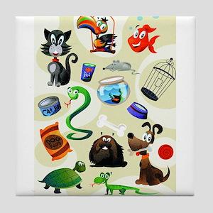 Animals Tile Coaster