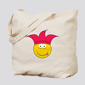 Jester Smiley Face Tote Bag