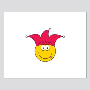 Jester Smiley Face Small Poster