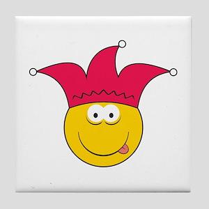 Jester Smiley Face Tile Coaster