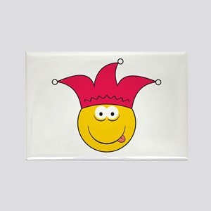 Jester Smiley Face Rectangle Magnet