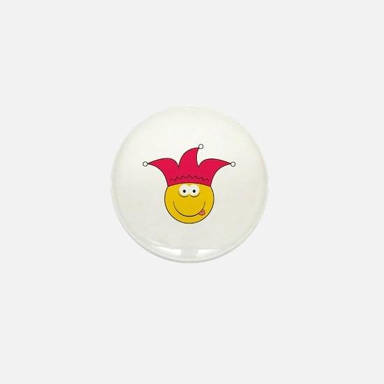 Jester Smiley Face Mini Button