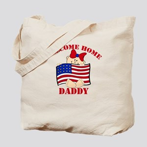 Army Welcome Home Daddy Tote Bag