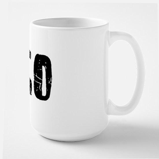 Chico Faded (Black) Large Mug