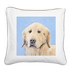 Golden Retriever Square Canvas Pillow