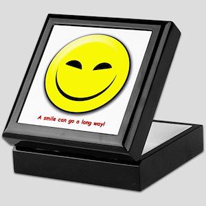 Smiley-A Smile Can Go A Long Way Keepsake Box