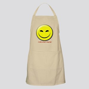 Smiley-A Smile Can Go A Long Way BBQ Apron