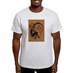 Celtic Whistle Player Ash Grey T-Shirt