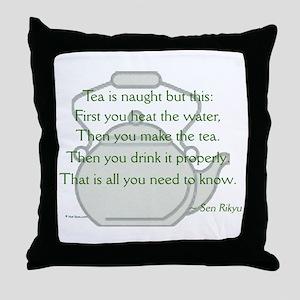 Sen Rikyu Throw Pillow