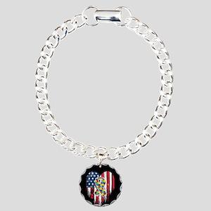 USA Autism Charm Bracelet, One Charm