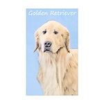 Golden Retriever Sticker (Rectangle 50 pk)