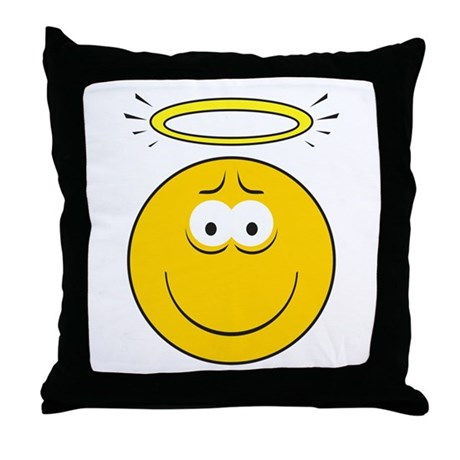 Angel Smiley Face Throw Pillow