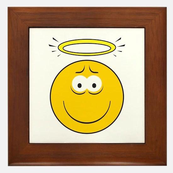 Angel Smiley Face Framed Tile