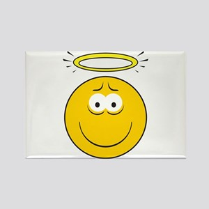 Angel Smiley Face Rectangle Magnet