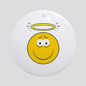 Angel Smiley Face Ornament (Round)