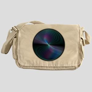 Swirling Fractal in Cool Tones Messenger Bag
