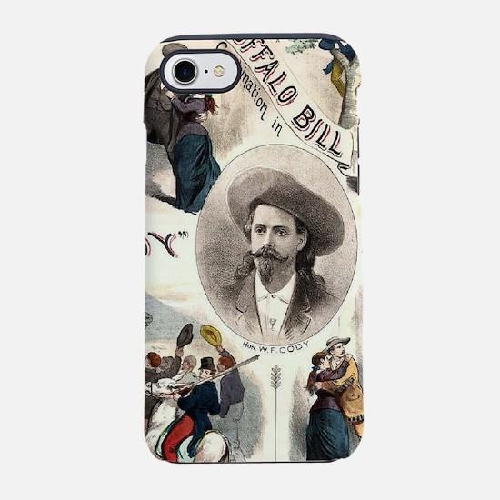 Western cowboy Buffalo Bill iPhone 8/7 Tough Case