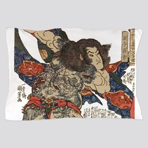 japanese tattoo warrior Samurai Pillow Case