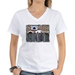 ...Dalmatian 17... Women's V-Neck T-Shirt