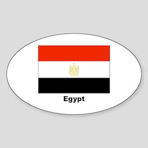 Egypt Egyptian Flag Oval Sticker