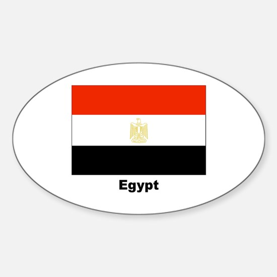 Egypt Egyptian Flag Oval Decal
