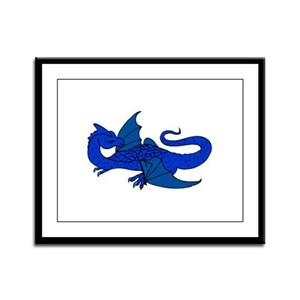 Watcher Dragon 2 Framed Panel Print