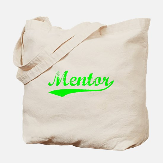 Vintage Mentor (Green) Tote Bag