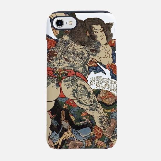 japanese tattoo warrior Samu iPhone 8/7 Tough Case