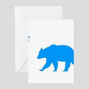 California Turquoise Republic Greeting Cards