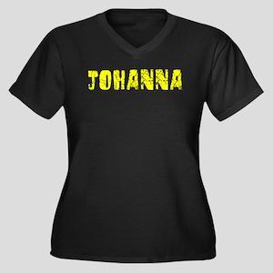 Johanna Faded (Gold) Women's Plus Size V-Neck Dark