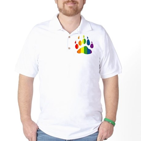 Rainbow Bear Paw Golf Shirt