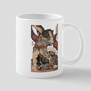 japanese tattoo warrior Samurai Mugs